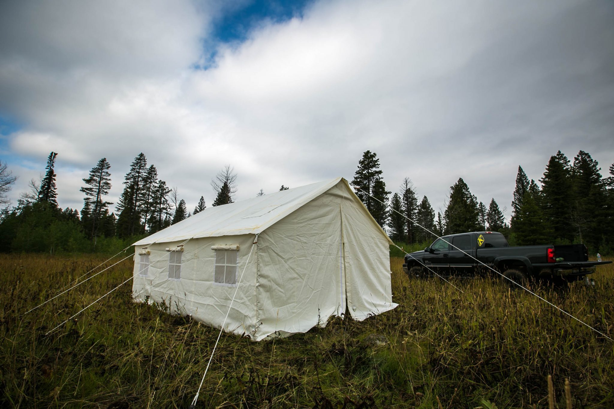 canvas tents by Elk Mountain Tents