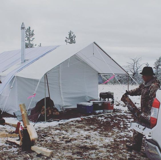 winter hunter tent