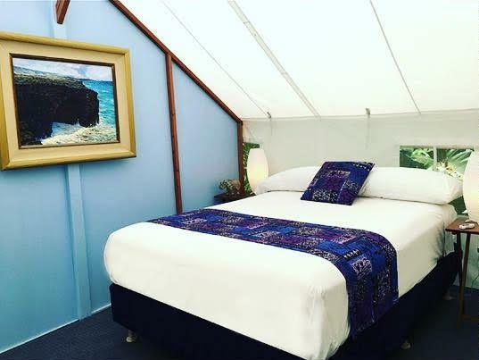 glamping tent inside