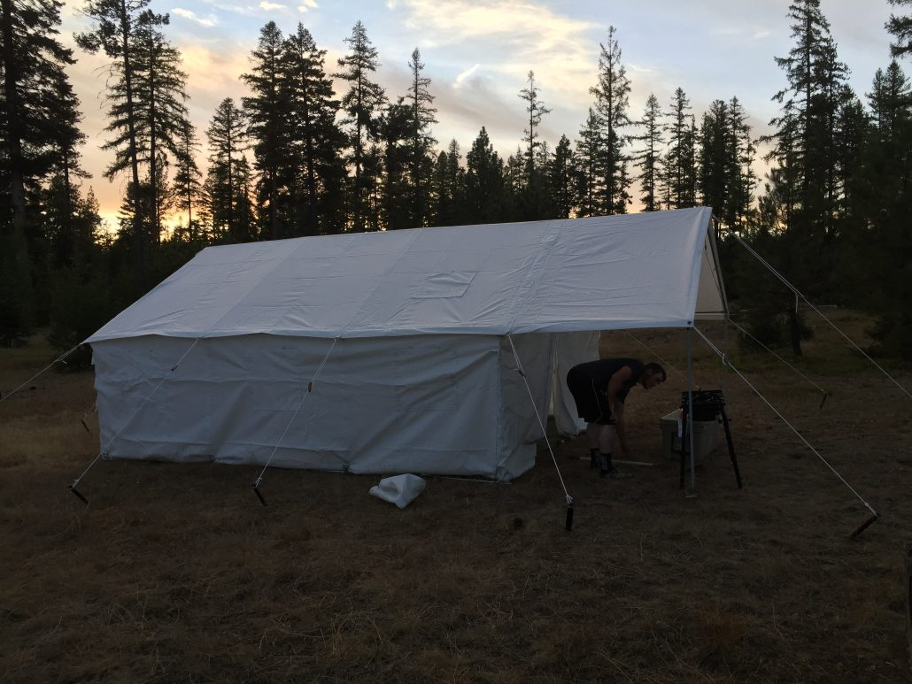 large cabin tent