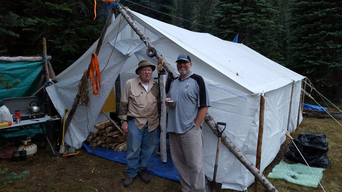 canvas tent with no frame