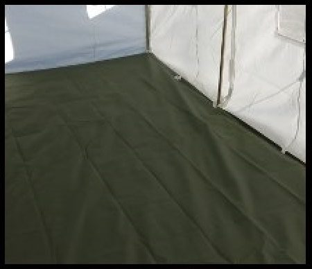 canvas tent floor