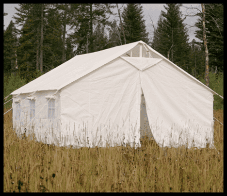 canvas tent by elk mountain tents