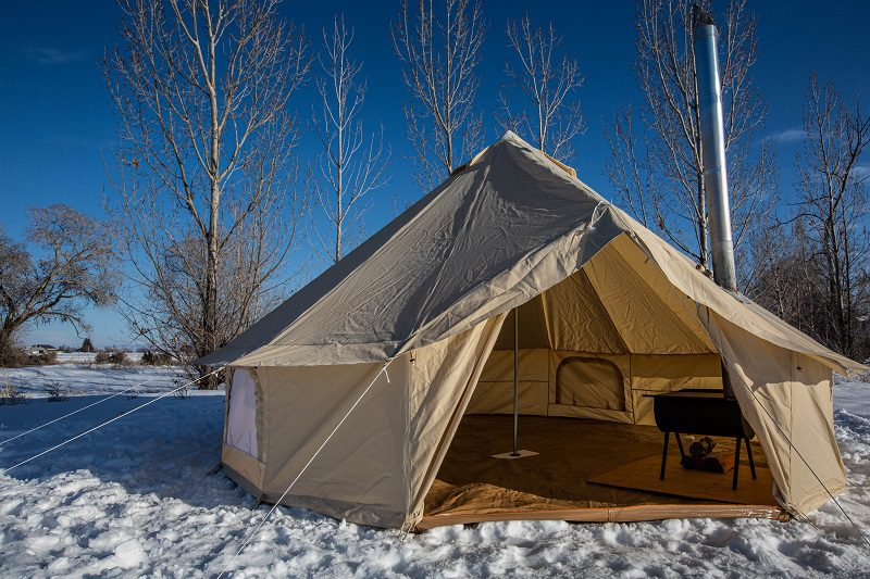 large canvas tent bell tent