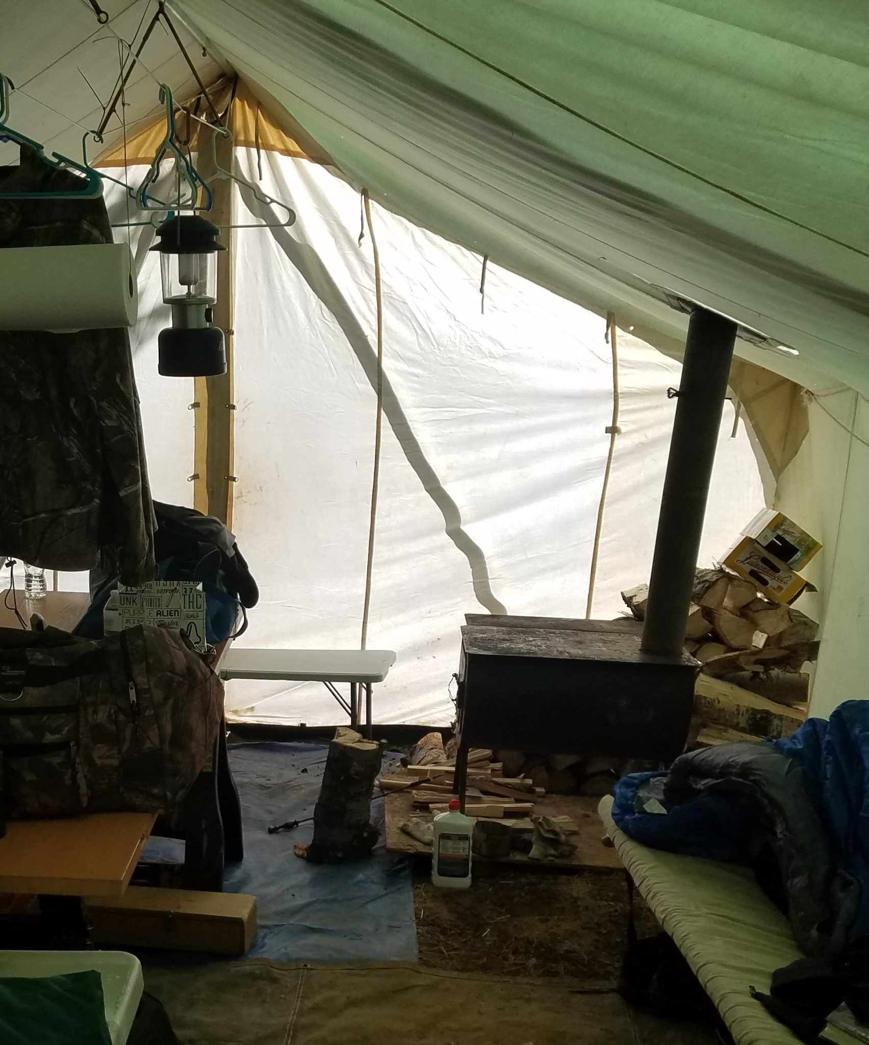 wall tent with stove
