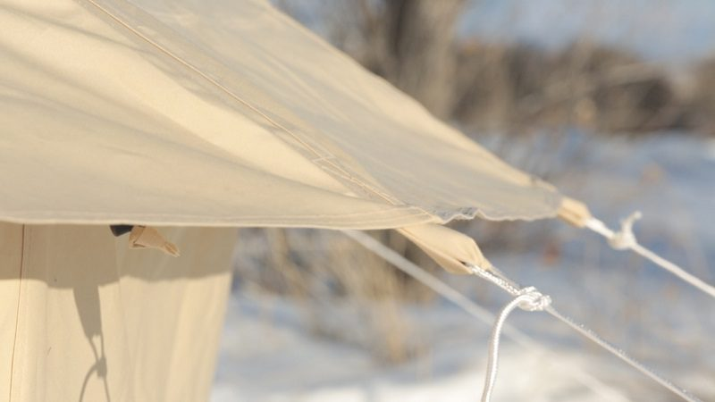bell tent tie downs for rain