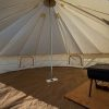 inside winter bell tent